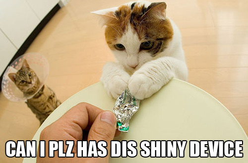 can i please have this shiny device tin foil lol cat macro