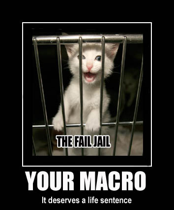 fail jail prison life sentence behind bars kitten lol cat macro