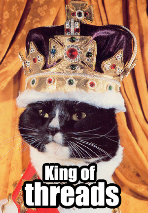 queen king thread posting internets crown lol cat macro