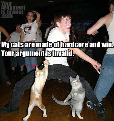 dancing cats and guy party argument invalid meme image macro