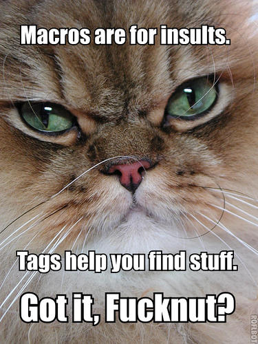angry cat tags macros function idiot insult lol cat macro